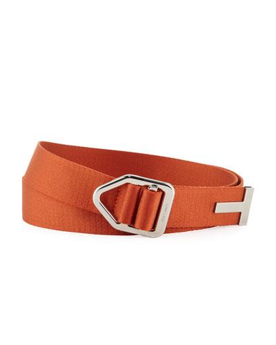 Men's Nylon Belt with Pull-Through Buckle