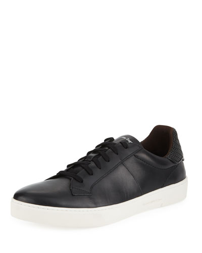 Men's Vulcanizzato Leather Low-Top Sneakers