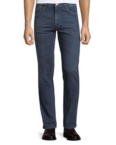 Men's Classic Used Denim Jeans
