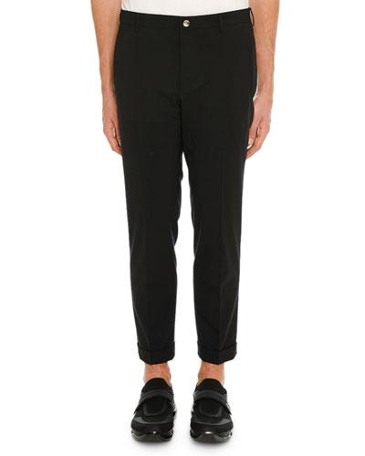 Men's Fold-Over Cuff Stretch-Denim Pants
