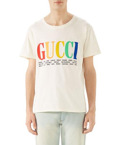 5c8a4fec8a2 Cities Logo Graphic T-Shirt Quick Look. Gucci