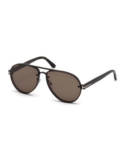 Men's Aviator Acetate Sunglasses
