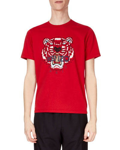 Men's Tiger Face Graphic T-Shirt