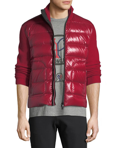 Men's Zip-Front Down Puffer Sweater