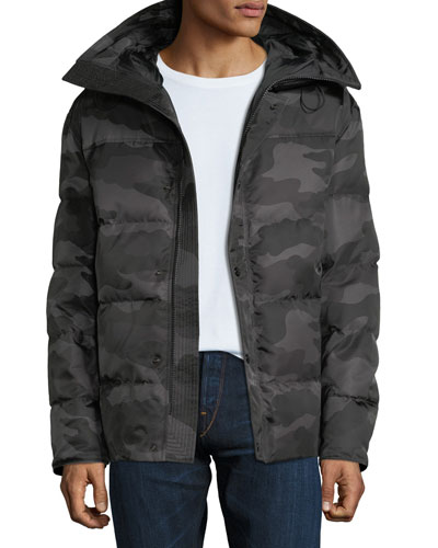 Men's Sebastien Camo Zip-Front Puffer Jacket Quick Look. Moncler