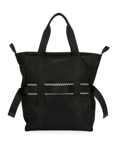 Men's Greek Chain Nylon Tote Bag