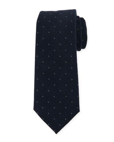 Brunello Cucinelli Polka-Dot Wool Tie