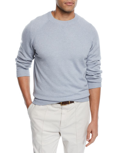 Men's Athletic Wool/Cashmere Crewneck Sweater