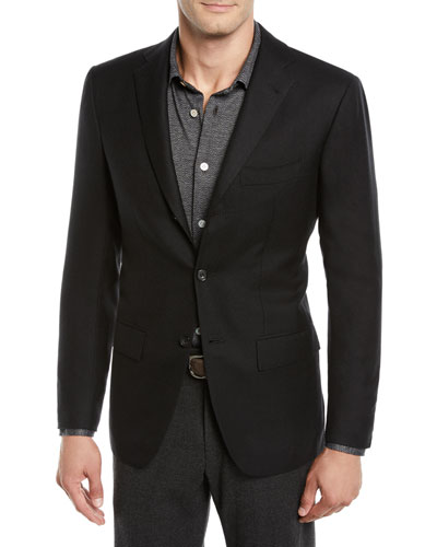 Men's Cashmere Three-Button Jacket
