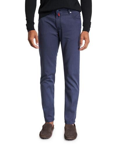 Men's Washed Wool Straight-Leg Pants