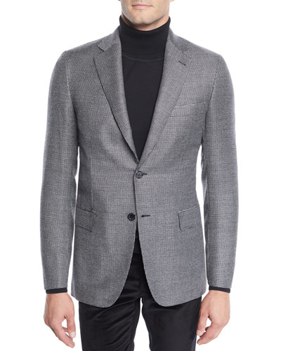 Men's Wool Two-Button Check Jacket