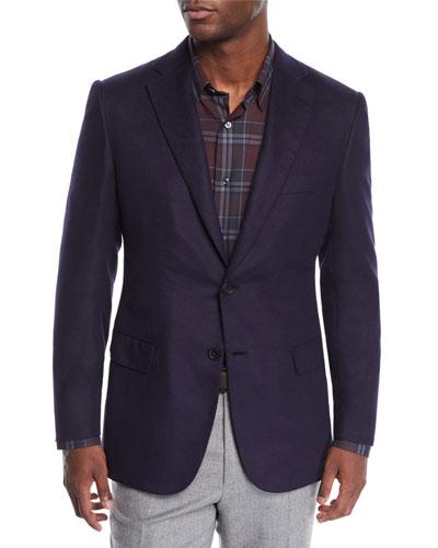 Men's Silk-Cashmere Two-Button Jacket