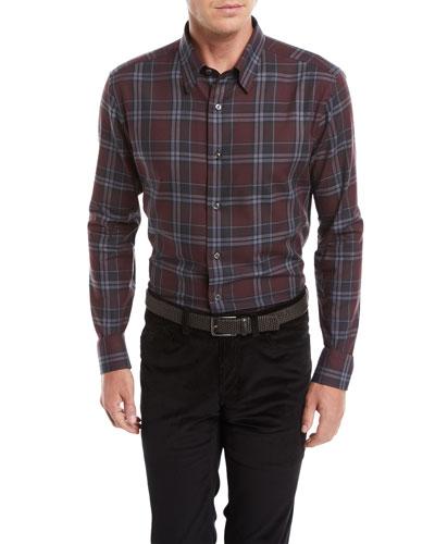 Men's Plaid Cotton Shirt