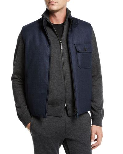 Men's Reversible Zip-Front Vest