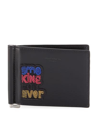 Men's Multicolor Applique Leather Wallet