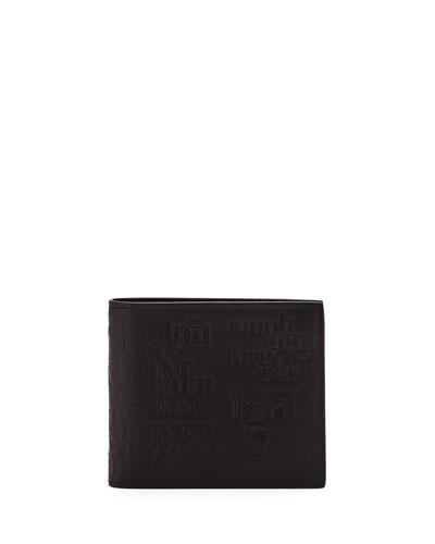Men's YSL 1971 Embossed Leather Billfold Wallet