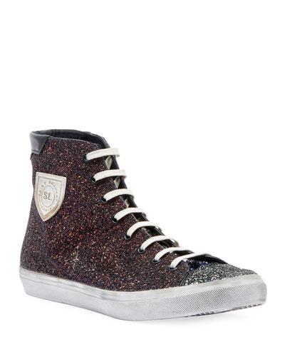 Men's Bedford Solid Glitter High-Top Sneakers