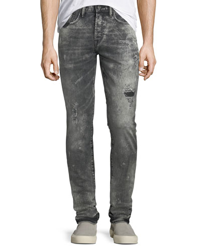 Men's Le Sabre Distressed Tapered Jeans