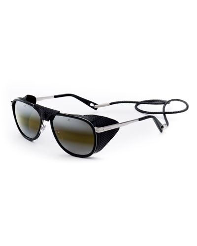 0bceec35a7a4 Men s Glacier XL Sunglasses w  Removable Leather Side Case Quick Look.  Vuarnet