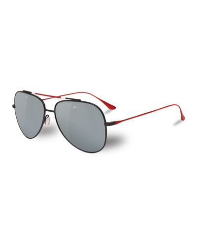 8ef73bc756 Vuarnet Sunglasses. Men s Titanium Aviator Sunglasses