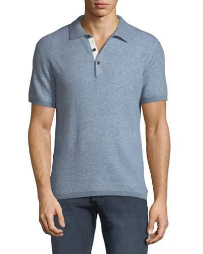 Men's Tripp Heathered Cotton/Wool Polo Shirt