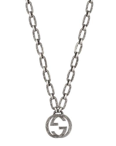 Gucci Men's Interlocking G Pendant Necklace