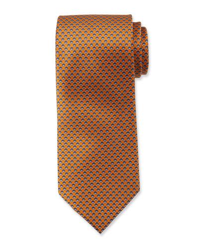 Hexagons Silk Tie
