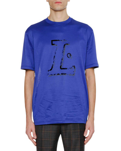 Men's Flocked L Logo T-Shirt