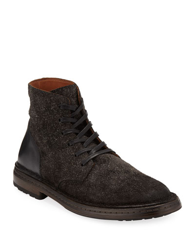Venice Suede/Leather Lace-Up Boots