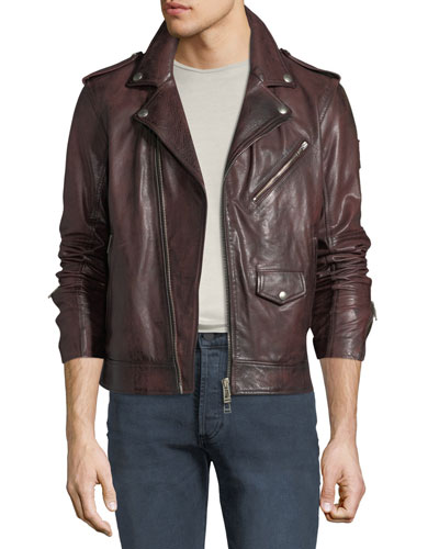 f66c67cfa64 Men s Sidmouth Hand-Wax Leather Jacket