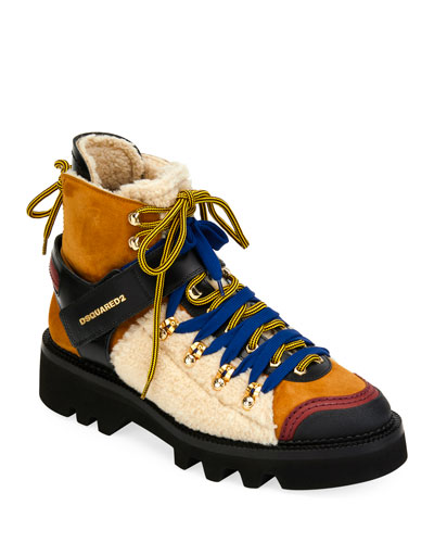 Men's Faux-Shearling Hiker Boot