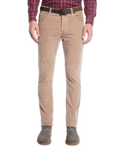 Men's Straight-Leg 5-Pocket Corduroy Pants