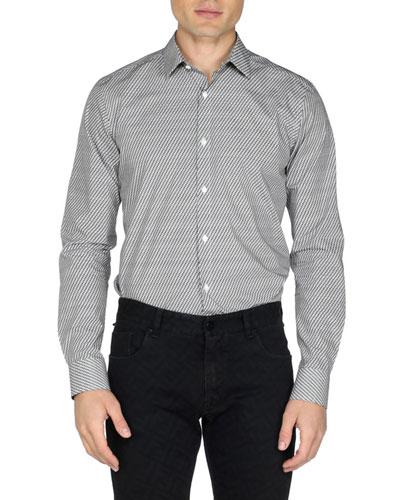 Men's Micro FF-Print Sport Shirt