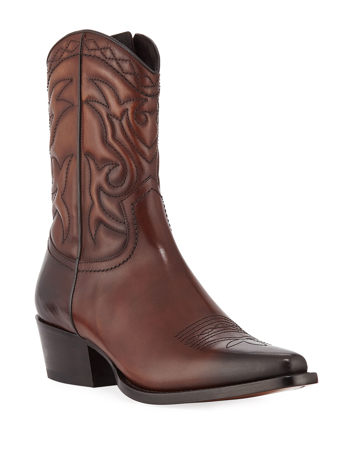Men's Leather Western Cowboy Boots