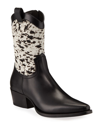 Men's Spotted Hair & Leather Cowboy Boots