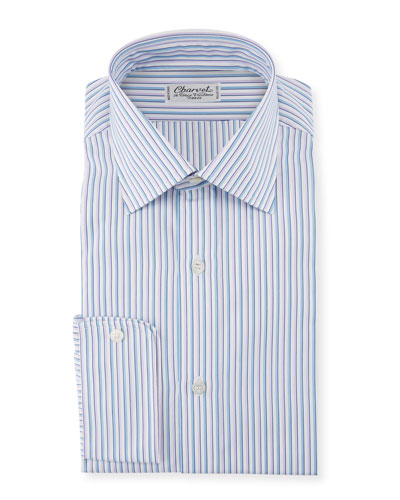 Men's Two-Tone Pinstripe Dress Shirt