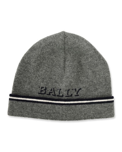 Bally Men s Logo Patched Wool Beanie Hat c2bf13f8ac3e