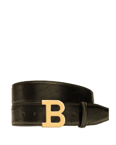 Bally Men's B-Buckle Leather Belt
