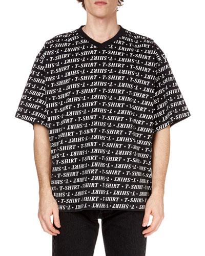 Men's Graphic V-Neck T-Shirt