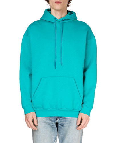 Men's Solid Knit Hoodie with Logo-Print