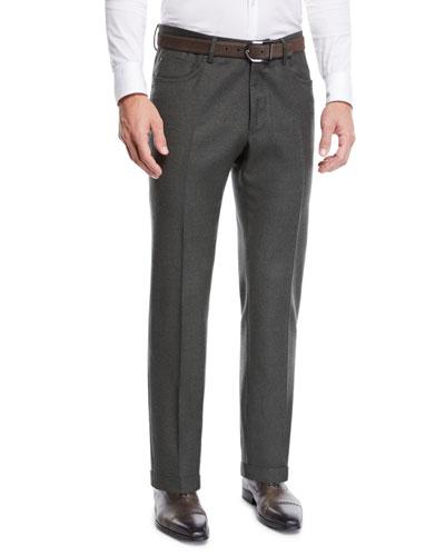 Men's Moss Five-Pocket Flannel Dress Pants