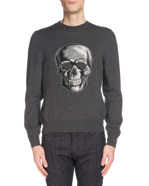 Men's Skull Graphic Wool Sweater