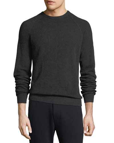 Men's Birdseye Wool-Cashmere Sweater