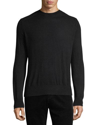 Men's Wool Crewneck Ottoman Sweater