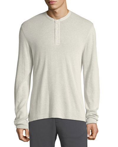 Men's Thermal Cotton Henley Shirt