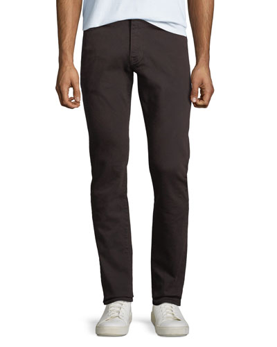 Men's Five-Pockets Slim Twill Pants