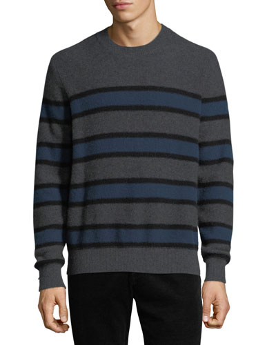 Men's Crewneck Striped Cashmere Sweater
