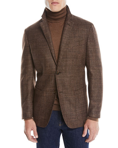 Men's Textured Wool-Silk Blazer