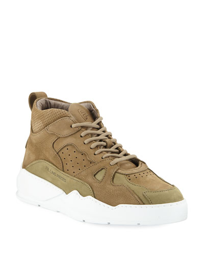 Men's Flow Suede Mid-Top Sneakers