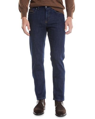 Men's Luxe Straight-Leg Denim Jeans
